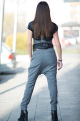 Grey Wool Harem Pants, Autumn Pants, Pants & Leggings
