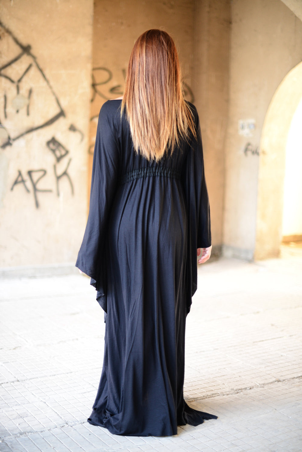 Black Maxi Dress, Long Caftan Dress, Kaftans Clothing