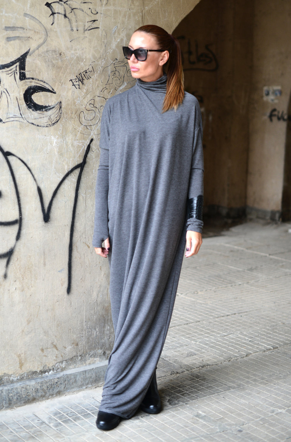 Turtleneck maxi dress plus size