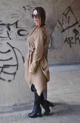 Light Brown Cashmere Wool Dress, Dresses & Maxi Dresses
