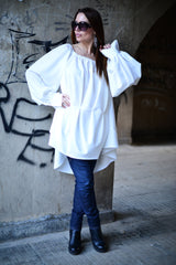 Off Shoulder White Tunic, Tops & Tunics