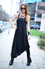 Black Long Linen Dress, Linen Clothing