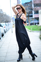 Black Long Linen Dress - EUG FASHION