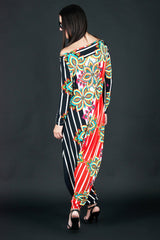 Printed Woman Jumpsuit, Maxi Jumpsuit