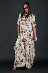 White Wide Summer Boho Jumpsuit, New Arrival