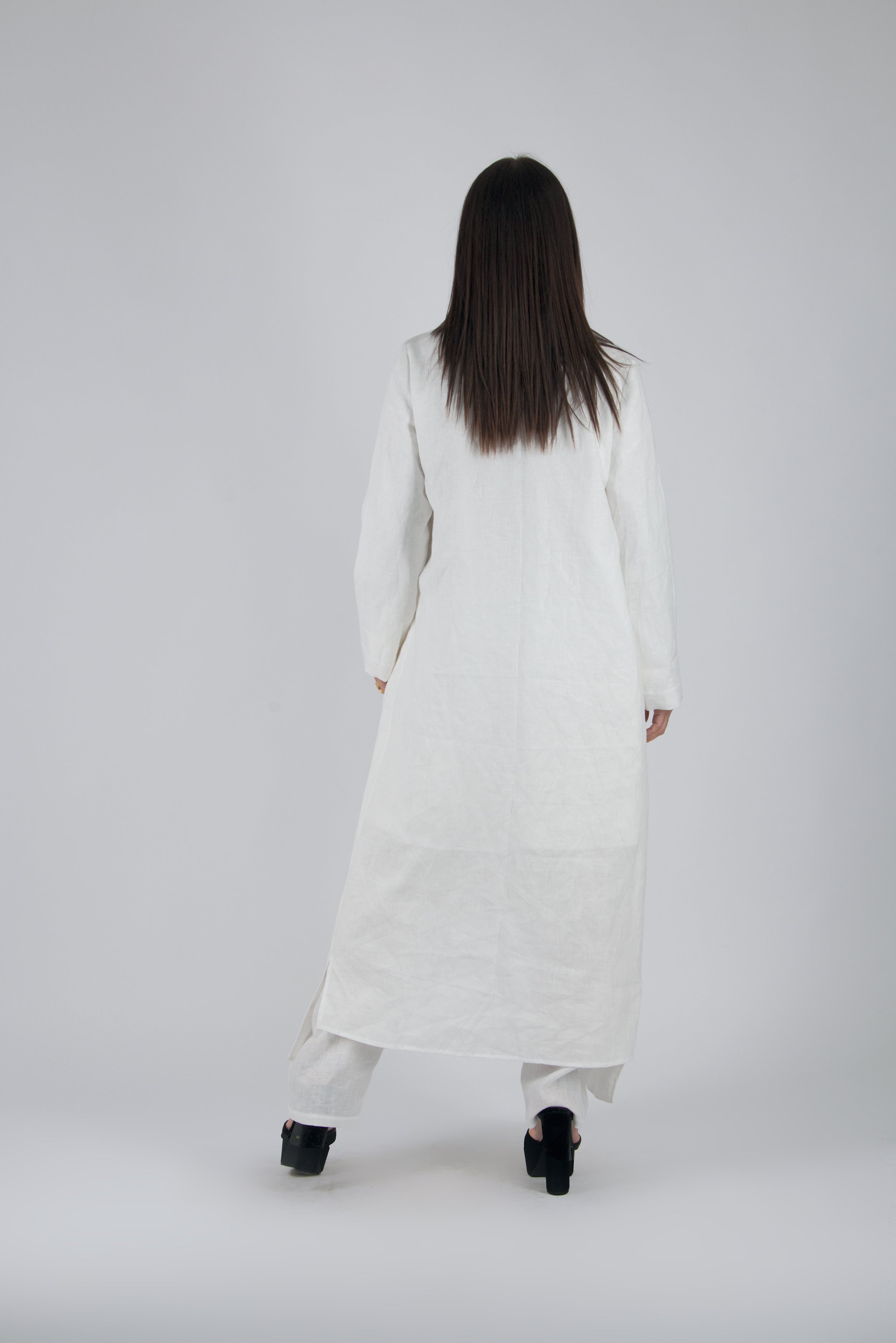 Off white Linen Kaftan, New Arrival