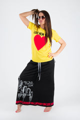 Printed Yellow tshirt with New York Love, New Arrival