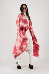 pink autumn winter coat