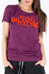 Purple tshirt with print