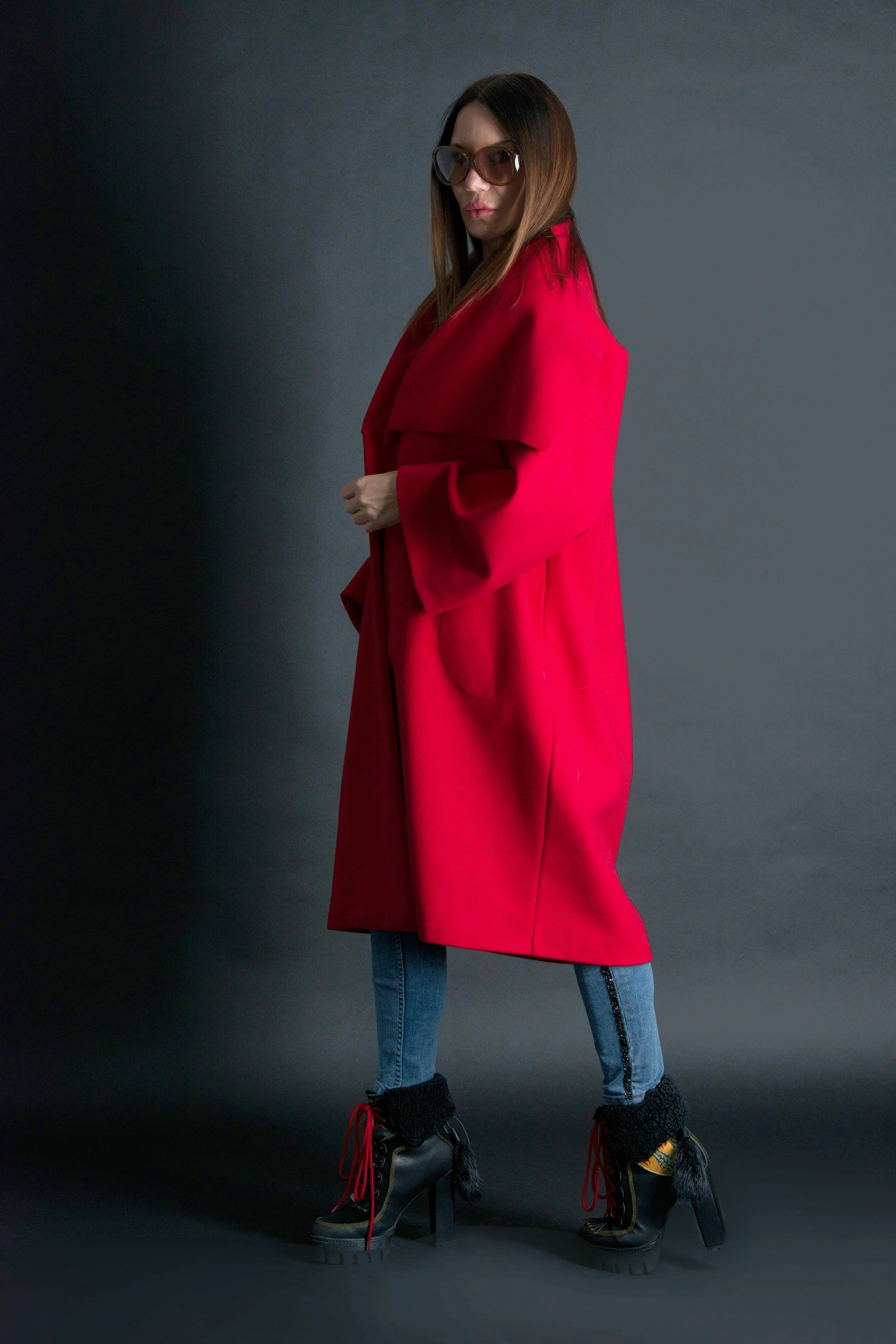 Red Cashmere Coat