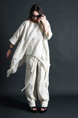 Two pieces set, Natural Summer Linen outfit, Linen Clothing