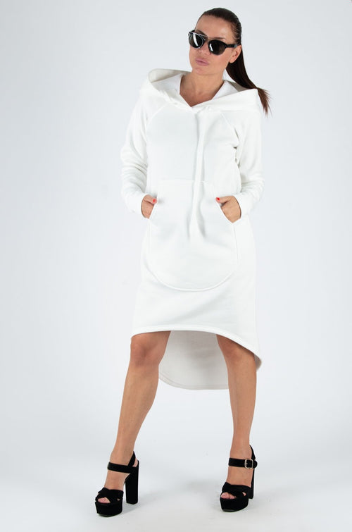 off white hooded dress