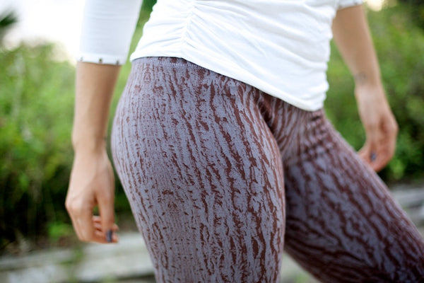 Leggings- bark print