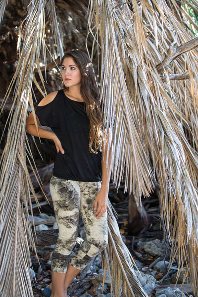 Leggings -Whispers in the wind ( high waisted)- organic bamboo
