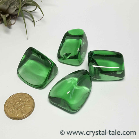 Green Obsidian Tumble