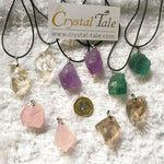 Load image into Gallery viewer, Raw Crystal Pendant - Amethyst, Fluorite, Clear, Rose & Smokey Quartz