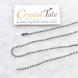 Stainless Steel Round Beads Chain (61cm)