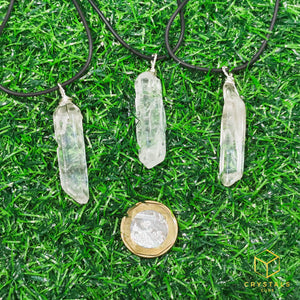 Clear Quartz Natural Point Pendant