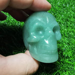Load image into Gallery viewer, Green Aventurine Skull