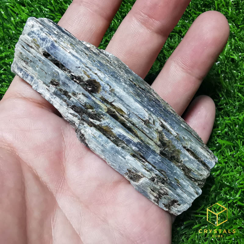 Blue Kyanite with Mica Raw