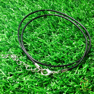 Black necklace (45+5cm)