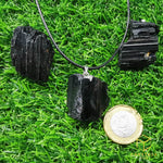 Load image into Gallery viewer, Black Tourmaline (Raw) Pendant