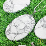 Load image into Gallery viewer, Howlite Oval Pendant - Big