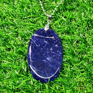 Sodalite Oval Pendant - Big