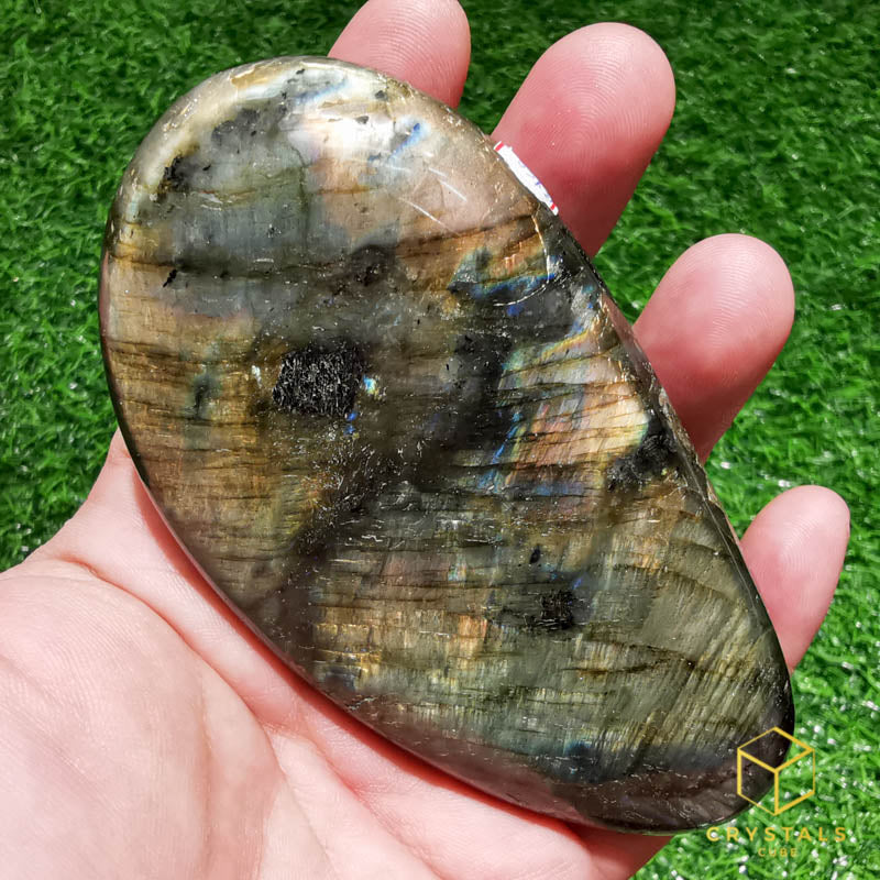 Labradorite*** Palm Stone - Huge
