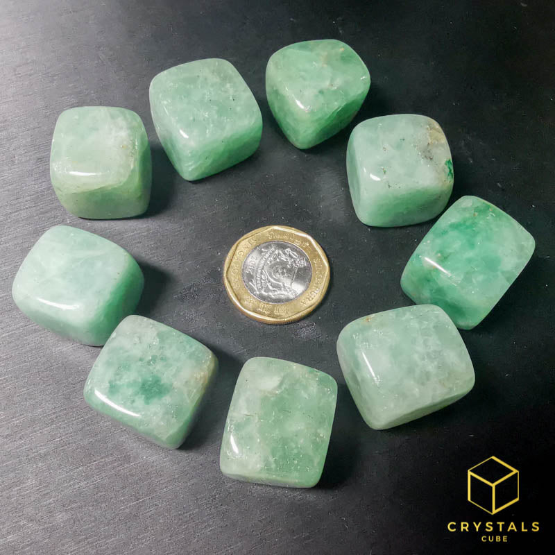 Green Strawberry Quartz Cube Tumble
