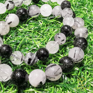 Black Rutile (Tourmalinated Quart) Bracelet