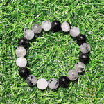 Load image into Gallery viewer, Black Rutile (Tourmalinated Quart) Bracelet