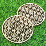 Load image into Gallery viewer, Flower of life & Metatron's Cube - Wooden Energy Grid