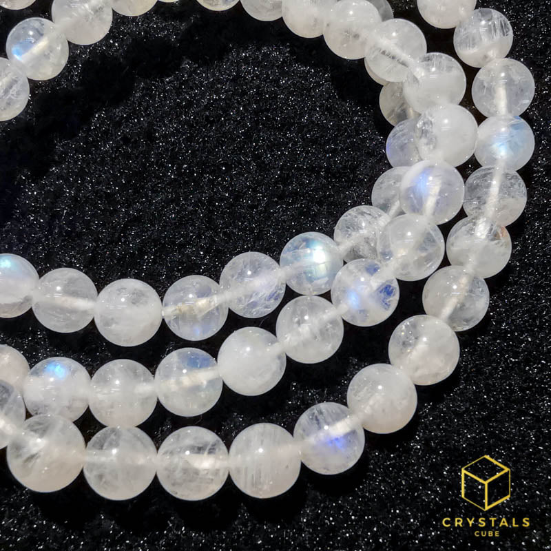 Rainbow Moonstone*** Bracelet 6mm