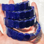 Load image into Gallery viewer, Lapis Lazuli Flat Bracelet