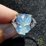 Load image into Gallery viewer, Aquamarine Fox Ring