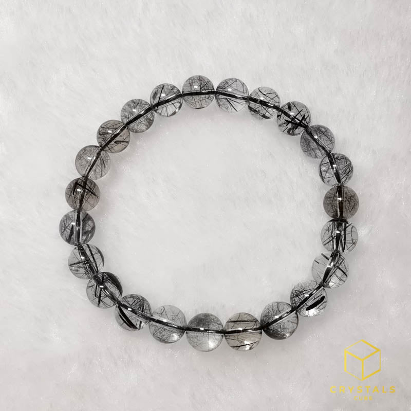 Black Rutile*** (Tourmalinated Quart) Bracelet