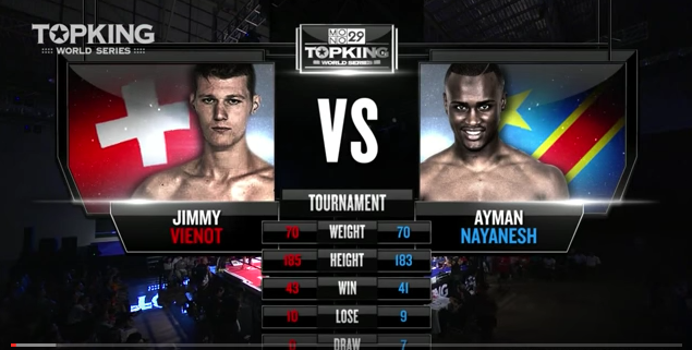 TK6 TOURNAMENT: Jimmy Vienot (Switzerland) vs Aymen Nayanesh (Congo) (Full Fight HD)