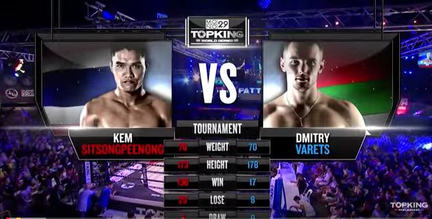 TK8 TOURNAMENT : Kem Sitsongpeenong (Thailand) vs Dmitry Varets (Belarus) (Full Fight HD)