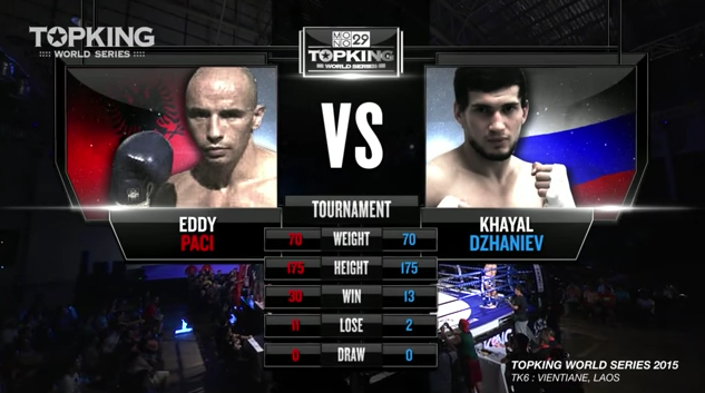 TK6 TOURNAMENT :Khayal Dzhaniev (Russia) vs Eddy Paci (Albania) (Full Fight HD)