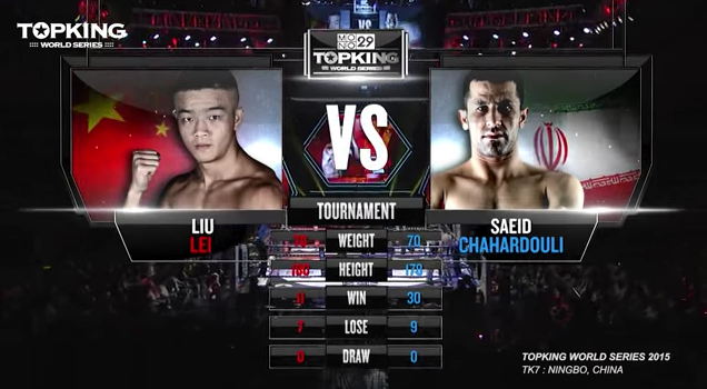TK7 TOURNAMENT: Liu Lei (China) VS Saeid Chahardouli (Iran) (Full Fight HD)