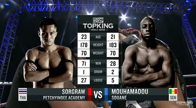 TK10 Tournament : Sorgraw Petchyindee (Thailand) vs Mouhamadou Souane (Senegal) (Full Fight HD)