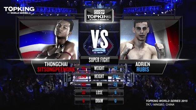 TK7 SUPERFIGHT : Thongchai Sitsongpeenong (Thailand) vs Adrien Rubis (France) (Full Fight HD)