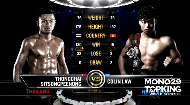 TK4 Super Fight : Thongchai Sitsongpeenong Vs Colin Law (Full Fight HD)