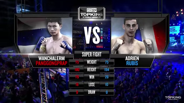 TK8 SUPERFIGHT : Wanchalerm Panggongprap (Thailand) vs Adrien Poptheeratham (France) (Full Fight HD)