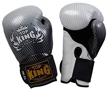 "Top King Silver ""Super Star"" Boxing Gloves"
