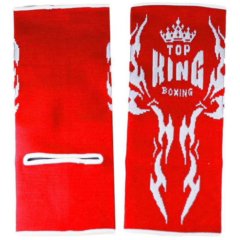Top King Red Tattoo Ankle Supports