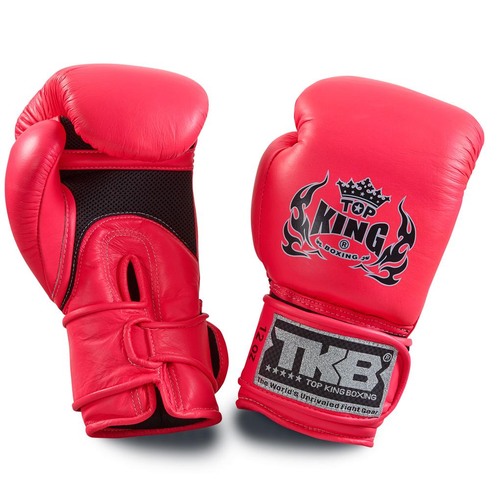 "Top King Neon Pink ""Double Lock"" Boxing Gloves [Air Version]"
