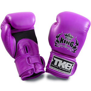 "Top King Neon Purple ""Double Lock"" Boxing Gloves [Air Version]"