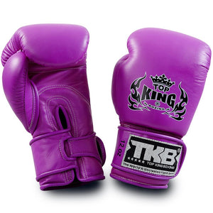 "Top King Neon Purple ""Double Lock"" Boxing Gloves"